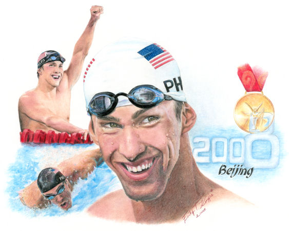 Michael Phelps Color Print